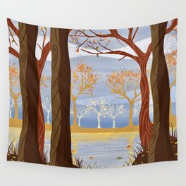 Autumn Leaves Autumn Woods Wall Tapestry