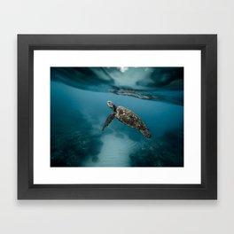 Take a peek Framed Art Print