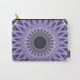 Violet and white mandala Carry-All Pouch