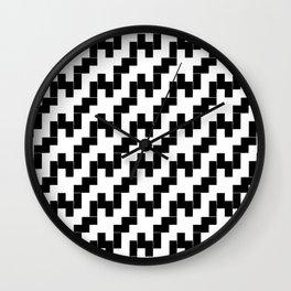 Symmetric patterns 139 black and white Wall Clock