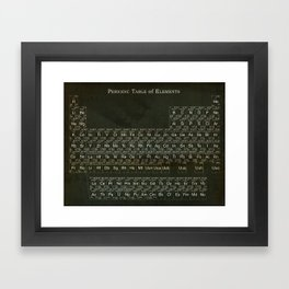 Distressed Periodic Table of Elements Framed Art Print