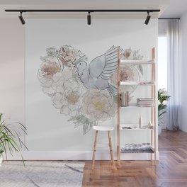bird of paradise , paradisebirds , simple floral graphic design , gift for gardener Wall Mural