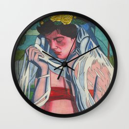 Sad Veil Bride Wall Clock