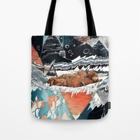 30 seconds to mars Tote Bags featuring Seconds Behind by Sandra Dieckmann