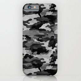 Camouflage (Gray) iPhone Case