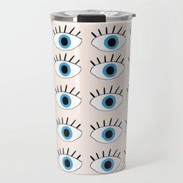 Blue evil eye Travel Mug