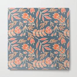 Loquacious Floral Metal Print
