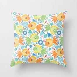 Tropical Fruit Fish! Throw Pillow