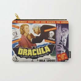 Dracula, Bela Lugosi, vintage horror movie poster Carry-All Pouch