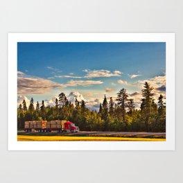 Under the big Canadian Sky Art Print