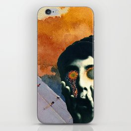 Boy with Fiery Eyes Collage iPhone Skin