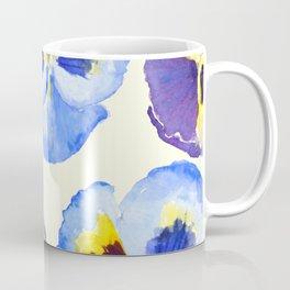 pansies pattern watercolor painting Coffee Mug