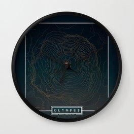 Olympus Topography Wall Clock