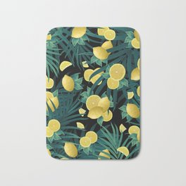 Summer Lemon Twist Jungle Night #1 #tropical #decor #art #society6 Bath Mat