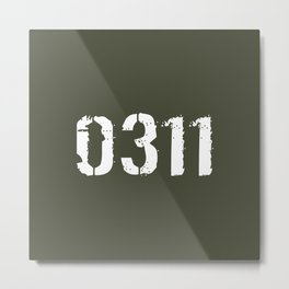 Infantry - 0311 Metal Print