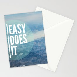 Easy Does It 2 | Motivational Quote Stationery Cards