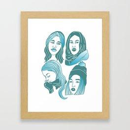 Winter Girls Framed Art Print