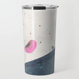 Geometric abstract free climbing bouldering holds pink yellow Travel Mug