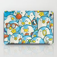 it crowd iPad Cases featuring Penguin Crowd by Bobsmade