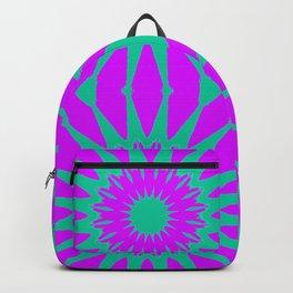 Purple & Teal Pinwheel Flowers Backpack