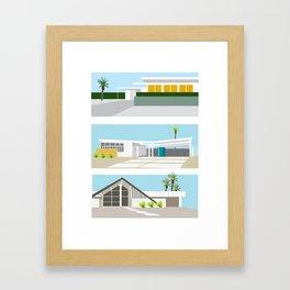 mid-centery house one, three, four Framed Art Print