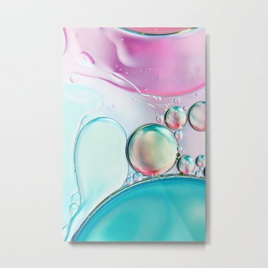 Girly Girly Bubble Abstract II Metal Print