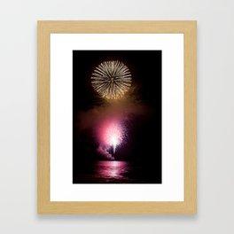 Fireworks Display Framed Art Print