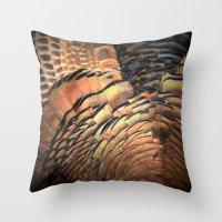 turkey Throw Pillows featuring Turkey by Nichole B.