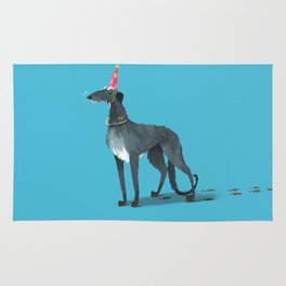 Party Animal : Scottish Deerhound Rug