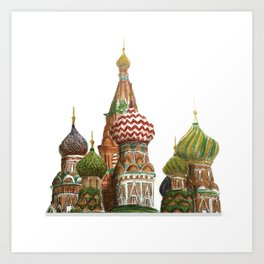 St. Basil's Cathedral - Moscow, Russia  Art Print