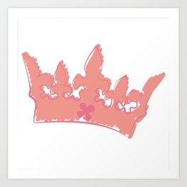 Crowned for His glory Art Print