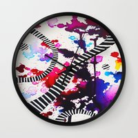 splash Wall Clocks featuring Splash by DuckyB