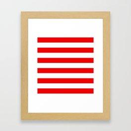 Stripe Red White Framed Art Print