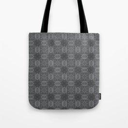 Sharkskin Geometric Floral Tote Bag