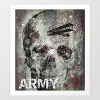 army Art Prints featuring Army by JosephusBartin