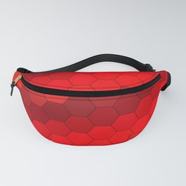 geometric red 82 Fanny Pack