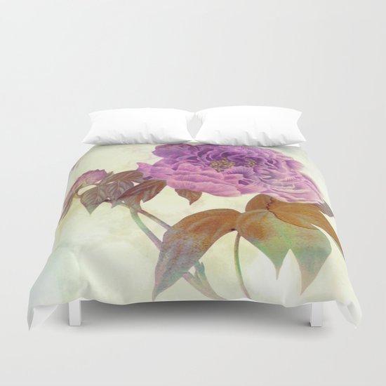 purple peony Duvet Cover