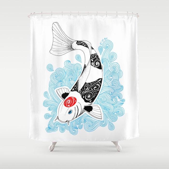 Koi Fish Shower Curtain By Artetbe