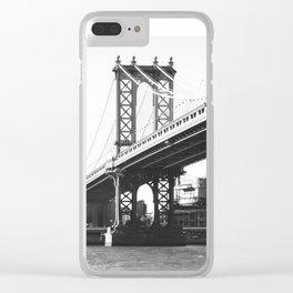 Manhattan Bridge from DUMBO, Brooklyn, NY Clear iPhone Case
