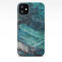 Cerulean Blue Marble iPhone Case