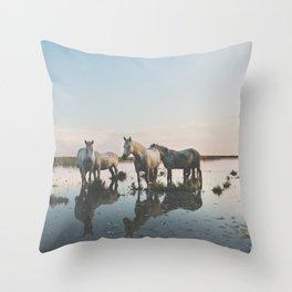 Camargue Horse II Throw Pillow