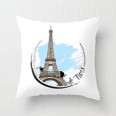 de Paris Throw Pillow