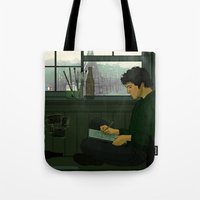 grantaire Tote Bags featuring Grantaire by rdjpwns