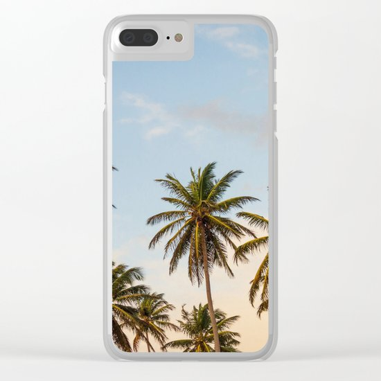 Chilling Palm Trees Clear iPhone Case