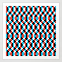 brain waves Art Prints featuring Blue Brain Waves by Gianni Sarcone