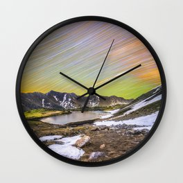 Loveland pass star trails Wall Clock