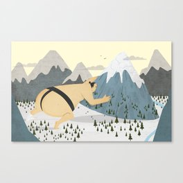 Oyama Fights The Mountain Canvas Print