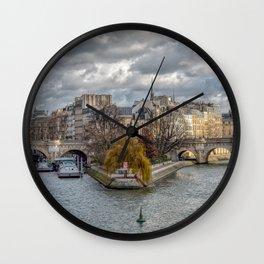 Pont Neuf and ile de la Cite in Paris Wall Clock