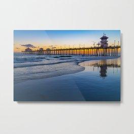 Blue Sunset Metal Print