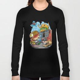 ramen vs hamburger Long Sleeve T-shirt